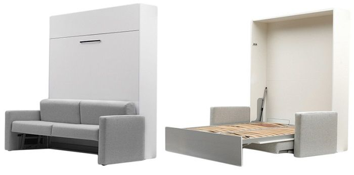 Aladino Wall bed with sofa and mattress, by Maxima House