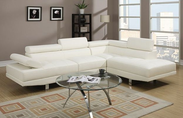 Armadale White Leather Sectional with Chaise by Brayden Studio