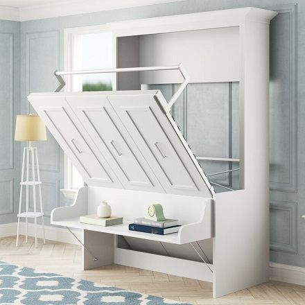 Avalon Full Portrait Wall Bed with Desk, by Xtraroom