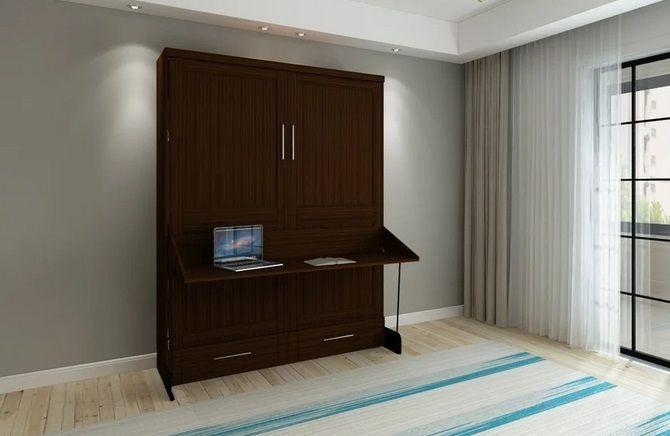 Brentwood Queen Murphy Desk-Bed, by RoomAndLoft