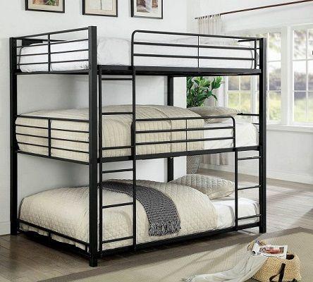 Cody Metal Triple Decker Bunk Bed by Furniture of America