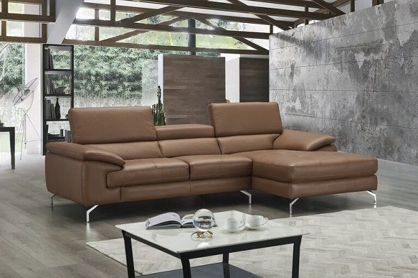Courtdale Leather Sectional with chaise by Wade Logan