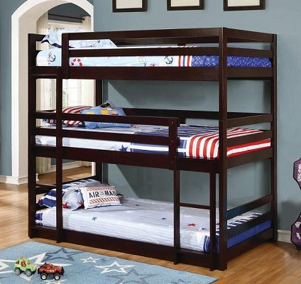 Hale 3-tier Twin Bunk Bed, by Taylor & Olive