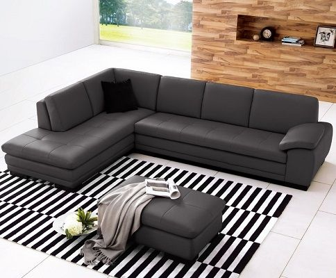 Jerald Leather Sectional with Chaise by Wade Logan
