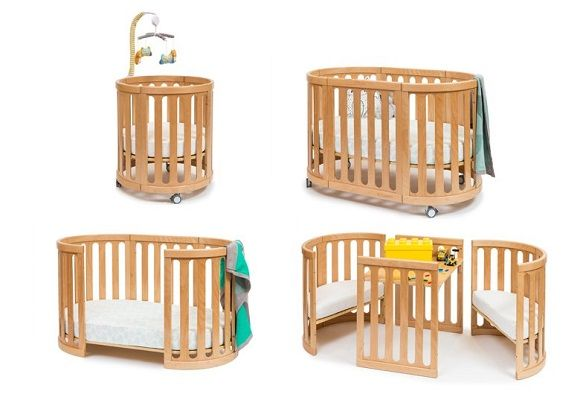 Lytham 4-in-1 Convertible Round Baby Crib and Bassinet by Harriet Bee
