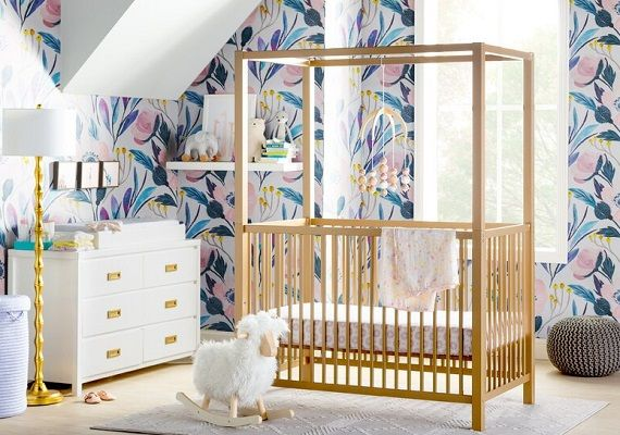 Monarch Hill Haven Baby Canopy Crib Little Seeds