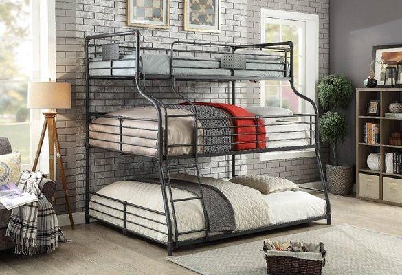 Prather Twin Over Full Over Queen 3 Tier Bunk Bed, by Harriet Bee