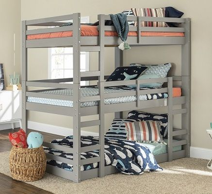 Solid Wood 3 Tier Bunk Bed by Manor Park