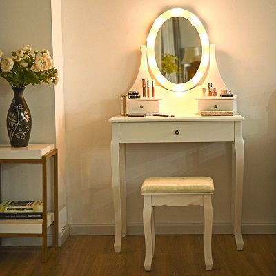 9 Makeup Vanity Tables with Lights
