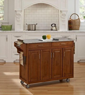 Create-a-Cart Kitchen Cart With Granite Top, by Home Styles