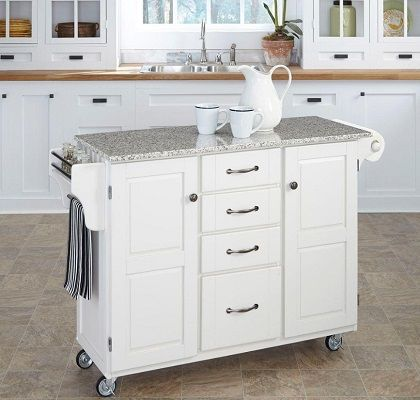 Kitchen Cart With Granite Top, by Home Styles