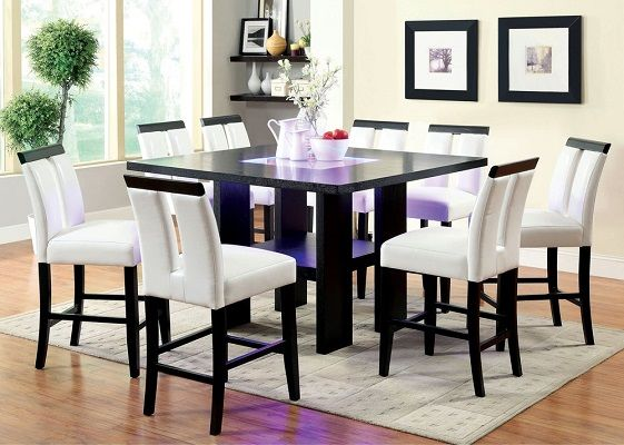 Lange 9 piece Dining Set, by Strick & Bolton