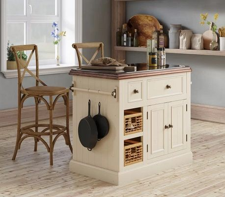 Zula Kitchen Island with Granite Top, by Laurel Foundry Modern Farmhouse