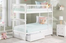 best twin bunk bed henry with storage