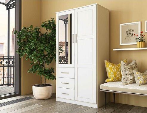 derlyum mirrored wardrobe armoire