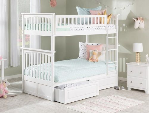 henry twin bunk bed with storage