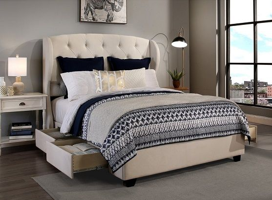 Republic Design House Steel Core Archer Upholstered Storage Bed