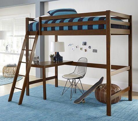 binne twin bunk with study loft