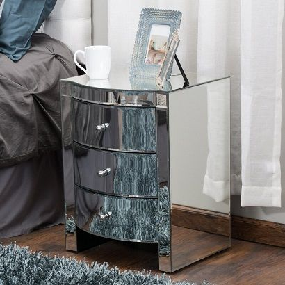Hendrick Mirrored End Table