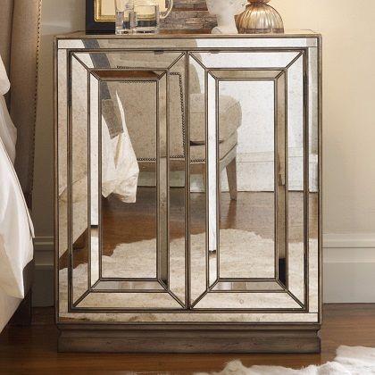 Hooker Furniture Sanctuary 2 Door Mirrored Nightstand - Visage