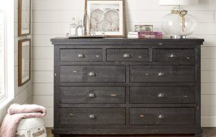 Best Black Dresser Castagnier 9 Drawer Double Dresser