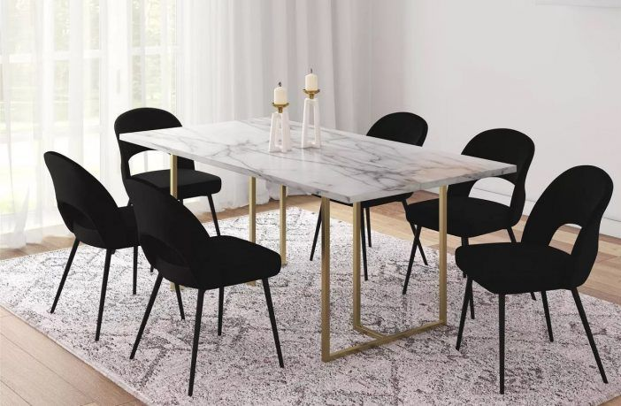 Best Faux Dining Table Edith CosmoLiving by Cosmopolitan