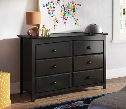 Black Kenton 6 Drawer Double Dresser by Storkcraft