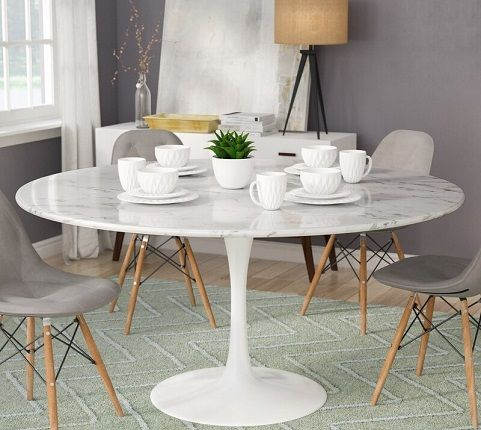 13 Faux Marble Dining Tables That Are Stunning And On Budget Trendy Home Interiors