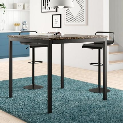 Reynaldo Counter Height Faux Marble Dining Table, by Zipcode Design
