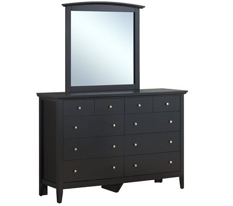 Sonja 8 Drawer Double Black Dresser with Mirror by Laurel Foundry Modern Farmhouse