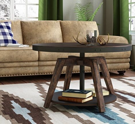 Hebbville Coffee Table with Adjustable Height 34.25, by Trent Austin Design