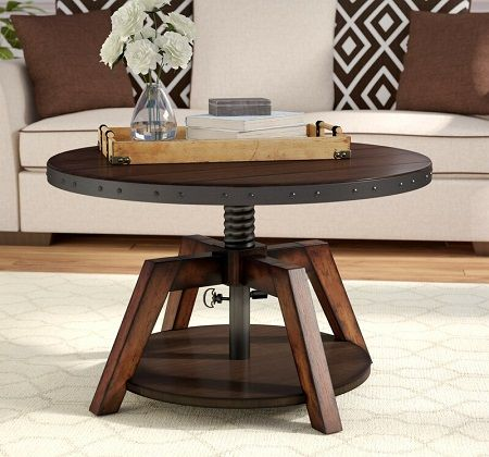 Hebbville Coffee Table with Adjustable Height, by Trent Austin Design
