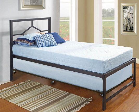 Holbrook Twin Platform Bed with Pop Up Trundle, Viv + Rae