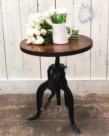 Hoschton Adjustable Crank Coffee Table, by Williston Forge