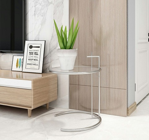 Round Coffee Table Cocktail Table with Adjustable Height, by Triple Tree