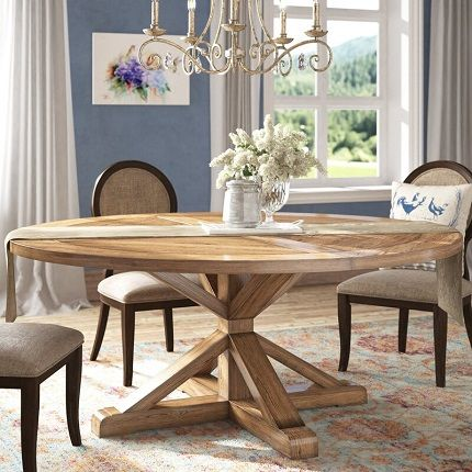 Alpena Round Dining Table for 10, by Greyleigh