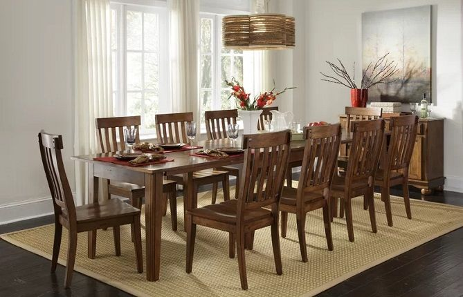 Birchley Extendable Solid Wood Dining Table for 10, by World Menagerie