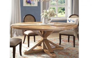 alpena round dining table for 10