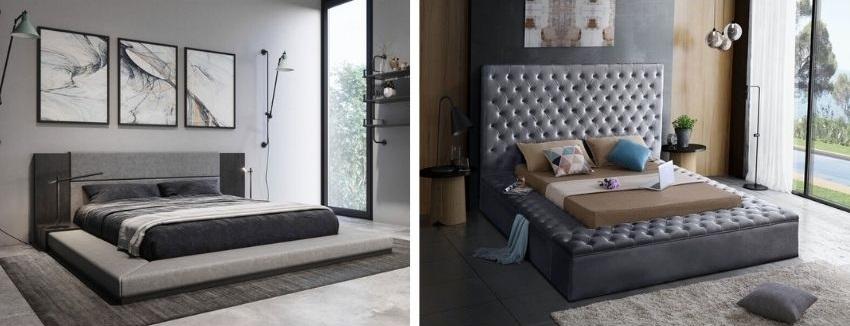 Defalco platform bed verses geralyn upholstered storage bed