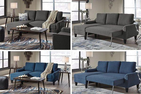Jarreau Chaise Sofa Sleeper by Ashley in blue or grey