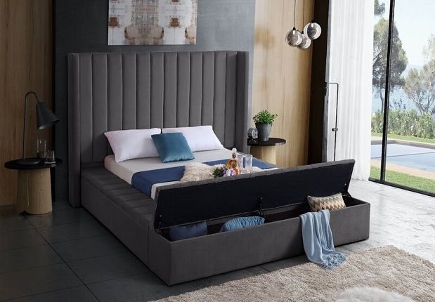 Rick Upholstered Storage Platform Bed, by Everly Quinn