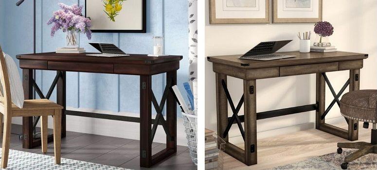 gladstone writing desk in Mahogany or rustic grey