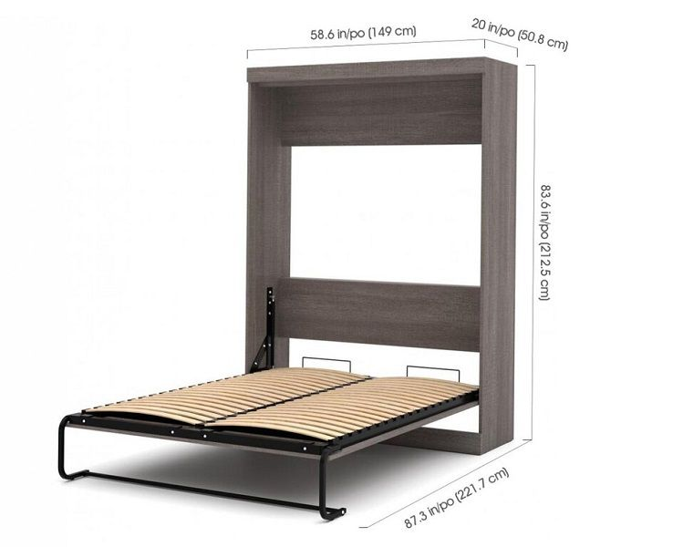 Colquitt Murphy Bed dimensions in full size