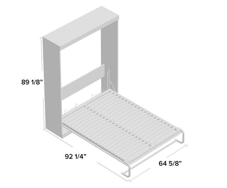 Colquitt Murphy Bed dimensions in queen size