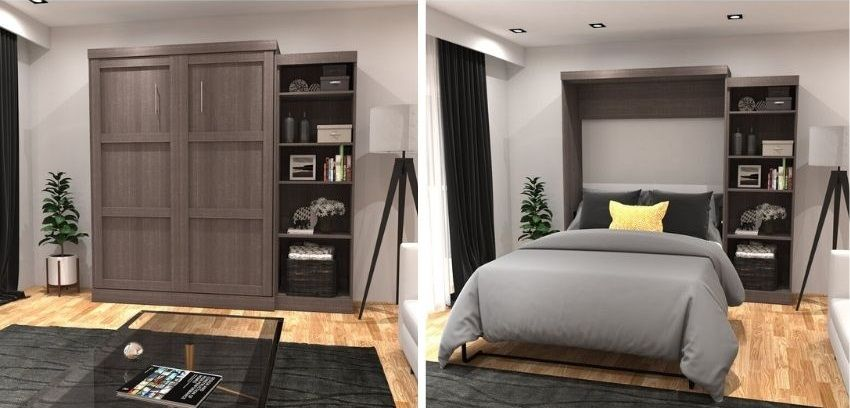 Navarra Storage Murphy Bed, by Beachcrest Home