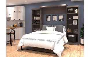 best murphy beds with storage and bookcase