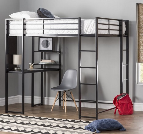Aime Loft Bed with Bookcase from Mack & Milo