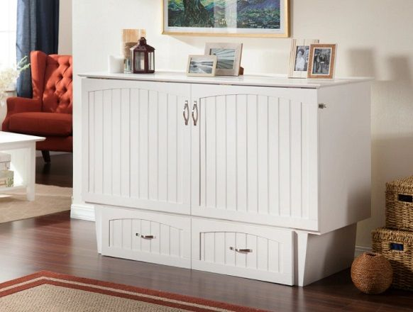 Atlantic Nantucket Murphy Bed Chest with Charging Station