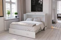 Audet Storage Murphy Bed with Mattress Review