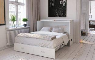 Audet Storage Murphy Bed with Mattress Review